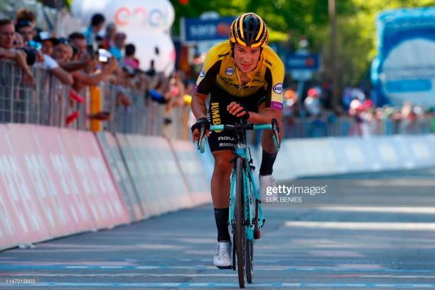 Roglic finished third at the Giro | getty images