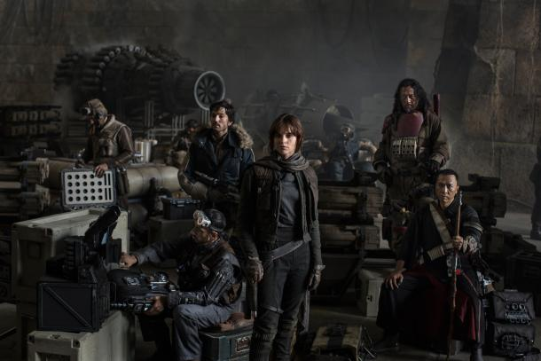"Elenco de ""Rogue One""/ Foto: Jonathan Olley/ Lucasfilm 2016"