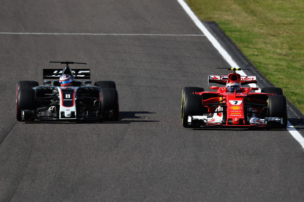 Romain Grosjean y Kimi Räikkönen en el GP de Japón (Foto: Getty Images AsiaPac)