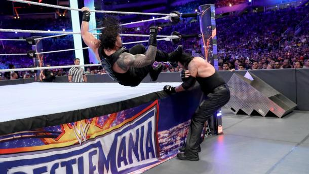 Roman Reigns and The Undertaker went to war in Orlando (image: wwe,com)