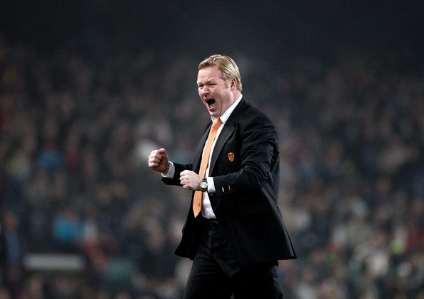 Ronald Koeman en un partido con el Valencia | Fotografía:  Jasper Juinen/Getty Images