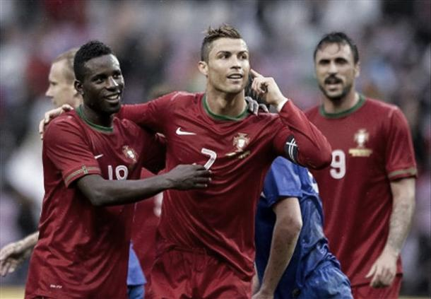 Above: Cristiano Ronaldo celebrating his goal in Portugal's 1-0 win over Croatia back in 2013 | Photo: goal.com