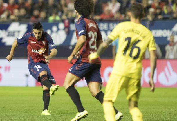 Roncaglia en su gol ante el Villareal | Fuente: Osasuna
