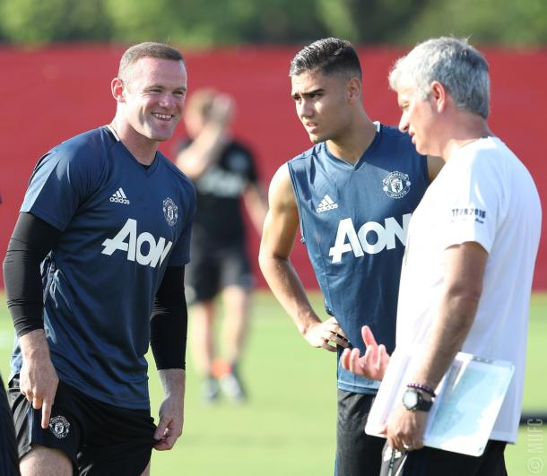 Rooney with Mourinho during the pre-season tour of China | Photo: Manchester United FC
