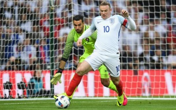 Wayne Rooney tried to find space for a shot in the first half | Getty images