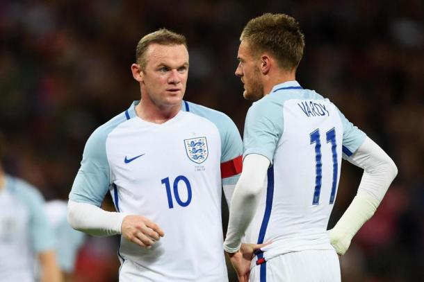 Will Vardy and Rooney start together? | Image source: The Sun