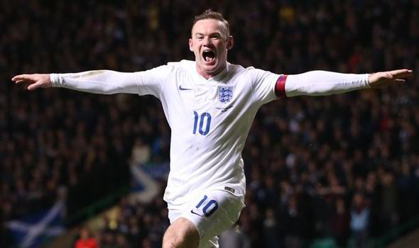 Rooney celebra un gol con Inglaterra. Foto: Express