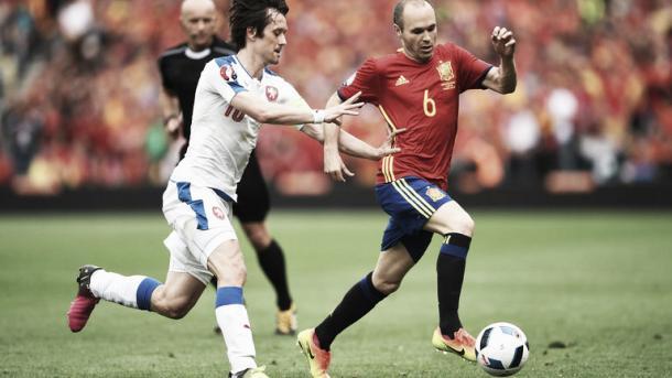 Rosicky battled all game. Photo- Sky Sports