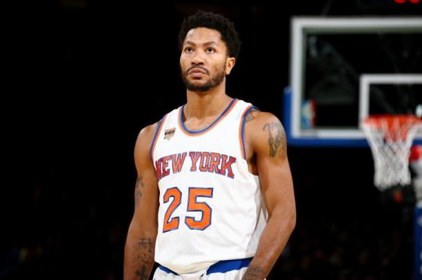 Derrick Rose didn't have a good first-year as a Knick but that shouldn't be a reason for the Knicks to re-sign him. Photo: Nathaniel S. Butler/Getty Images