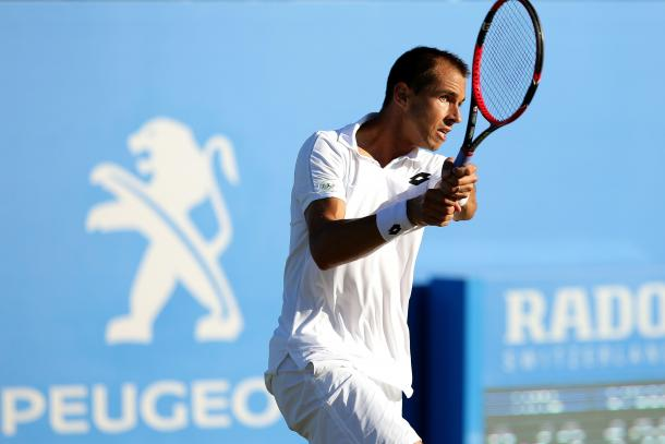 Rosol looked out of sorts on court today. Photo: Getty