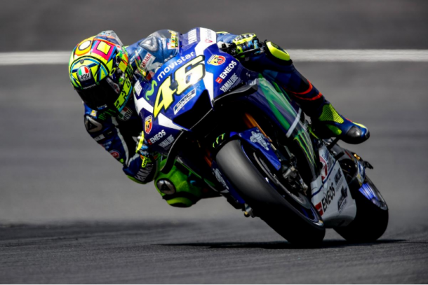 Rossi aboard his Movistar Yamaha, fifth quickest - www.motogp.com