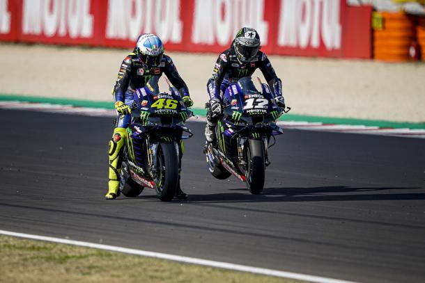 Rossi y Maverick en Romagna / Fuente: Yamahamotogp.com