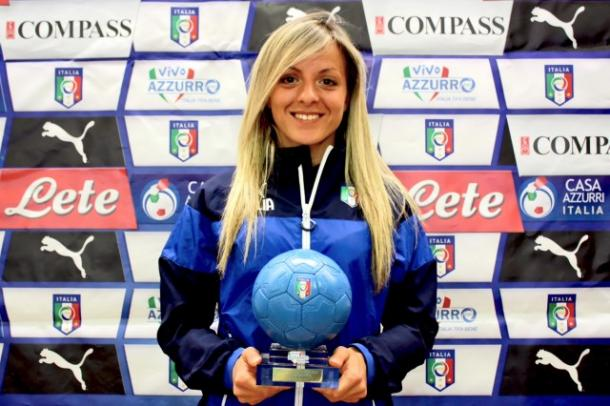 Rosucci named as Italy's best player in 2014 l Image credit: FIGC
