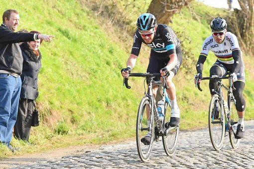 Rowe in action at Ghent-Wevelgem last weekend / Road Cycling UK