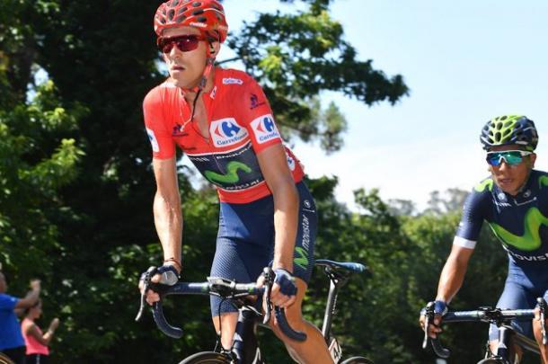 Rubén Fernández lució el rojo de la Vuelta en 2016 | Foto: Vuelta a España