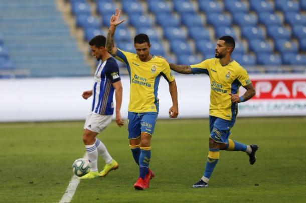 Rubén Castro celebra su gol a la Ponferradina   Fotografía: UD Las Palmas