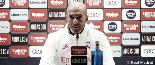 Zidane en rueda de prensa | Fuente: Real Madrid