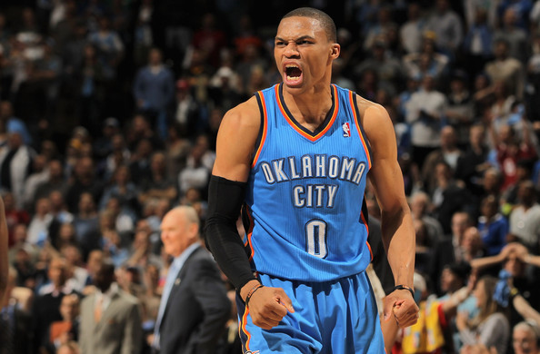 """Russell Westbrook stands at 6'3"""" and weighs in at 200 lbs. Photo: Doug Pensinger/Getty Images North America"""