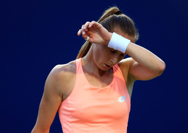 Magdalena Rybarikova reacts during her loss to Halep. Photo: Vaughn Ridley/Getty Images
