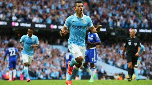 Will Aguero be on song against the Premier League champions again? | Image source: ESPN