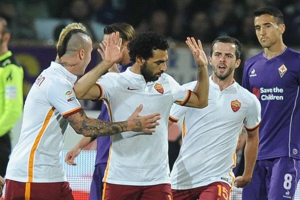 L'ultimo successo della Roma al Franchi. 1-2 firmato dall'ex Salah. Fonte foto: panorama.it