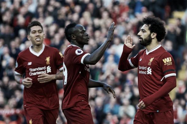 Salah, Mané y Firmino otra vez fueron determinantes. Foto: Liverpool