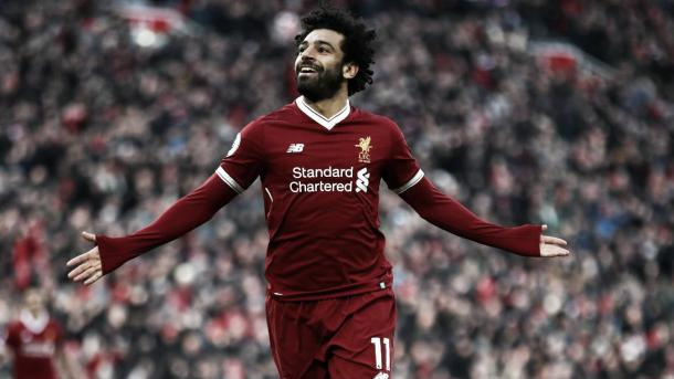 Salah sigue firme en la pelea por la bota de oro. Foto: Premier League