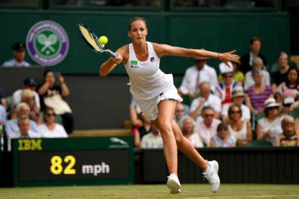Karolina Pliskova in action during her shock defeat (Getty/Shaun Botterill)