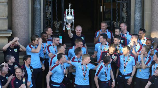 Burnley celebrate their title win. | Image source: Sky Sports