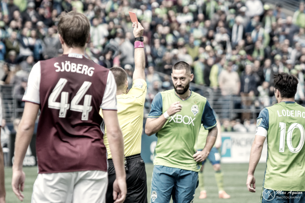 Clint Dempsey will miss the match through suspension. | Photo Max Aquino-Sounders at Heart