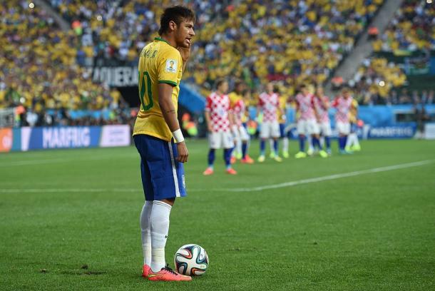 En la fotografía, el jugador Neymar / Fuente: Selección Brasileña