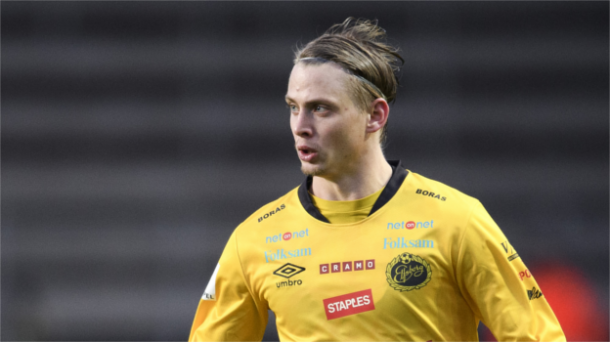 Hedlund in action for Elfsborg. | Image source: fotbolldirekt.se