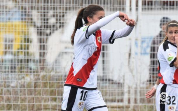 Sheila García celebrando un gol   Fotografía: La Liga