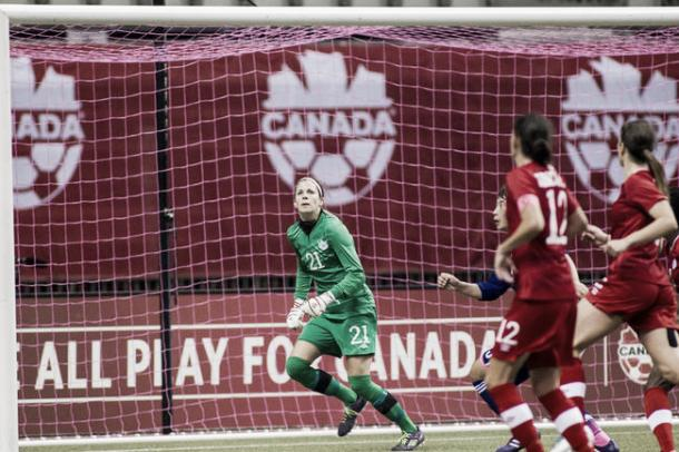 Labbé is expected to start in goal for Canada | Source: stonyplainreporter.com