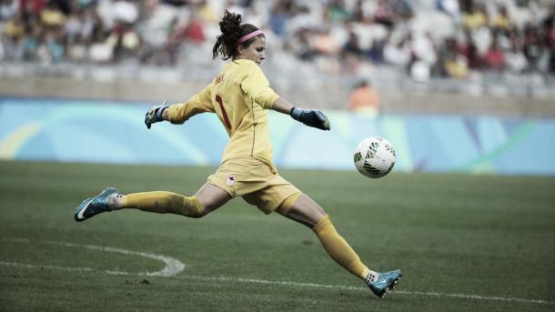 Stephanie Labbé will need to be at her best tomorrow | Source: olympics.ca