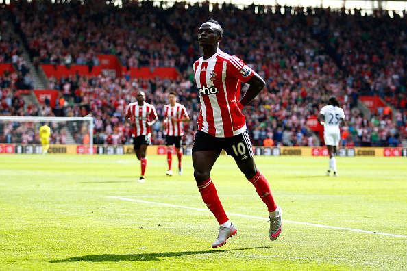 Mané celebrates scoring for Southampton. | Image credit: Christopher Lee/Getty Images