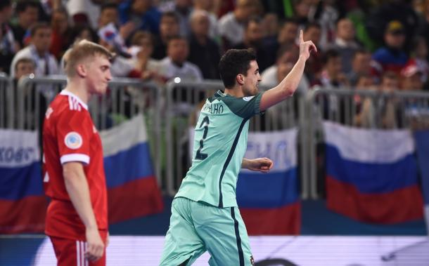 André Coelho celebra la remontanda | Foto: UEFA