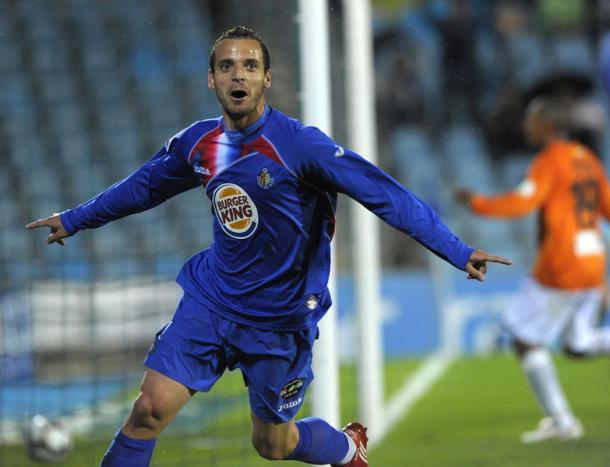 Roberto Soldado celebra un gol en la temporada 09/10 Fuente: Getafe C.F.