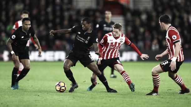 Empate entre el Southampton y Liverpool 0-0. Foto: Getty Images.