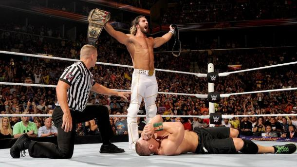 Rollins obtuvo el U.S. Championship contra John Cena. Foto: wwe.com