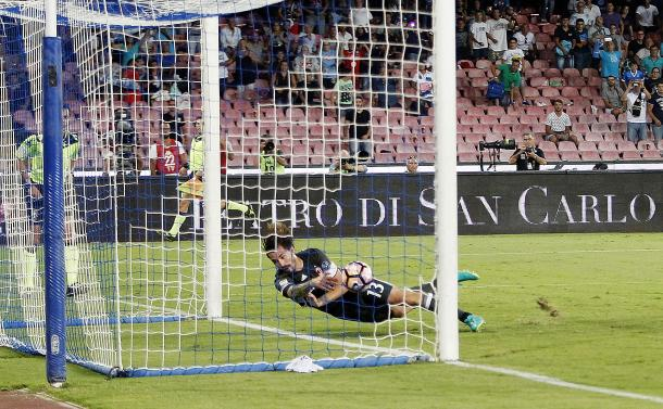 Romagnoli's save | Photo: Francesco Pecoraro/Getty Images