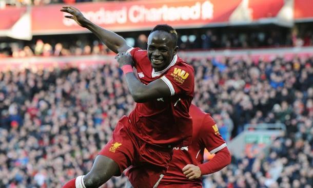 Sadio Mane, celebrando un gol con el Liverpool (Foto: liverpoolfc.com)