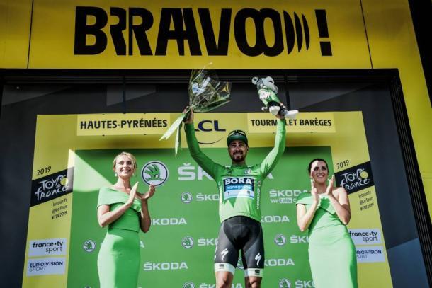 Sagan mantiene el maillot verde de los puntos.   Foto: LeTour