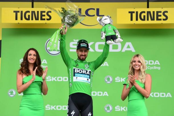 Hulk Sagan, de verde en Tignes. | Foto: LeTour