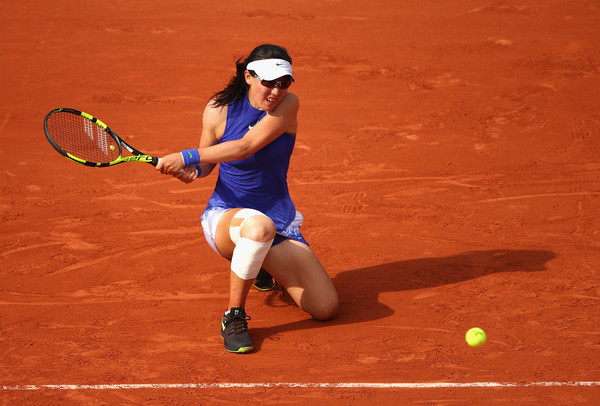 Zheng Saisai in action | Photo: Clive Brunskill / Getty Images Europe