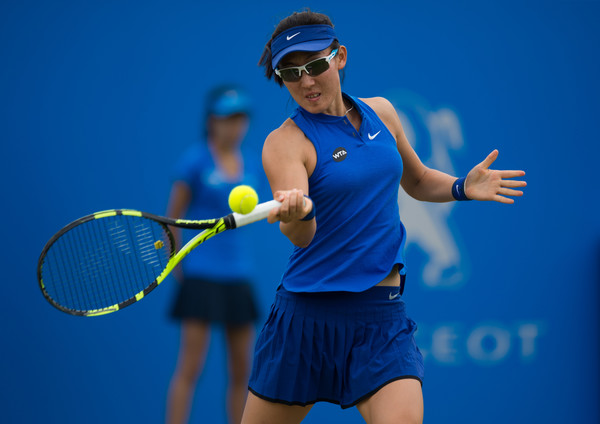 Zheng Saisai in action at the Aegon Open last year | Photo: Jon Buckle/Getty Images Europe