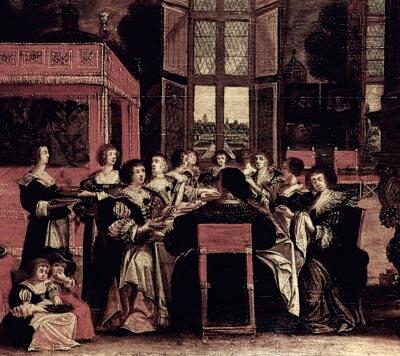 Salón de damas, Abraham Bosse (siglo XVII) Foto: Wiki Commons