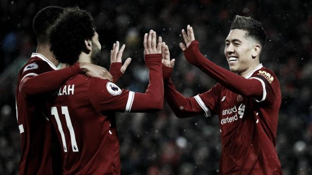 Salah y Firmino, una dupla perfecta. Foto: Premier League.