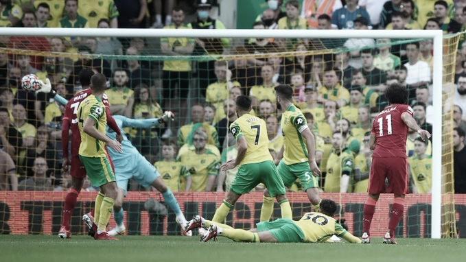 Definición de Salah para el 3-0. Foto: Liverpool.