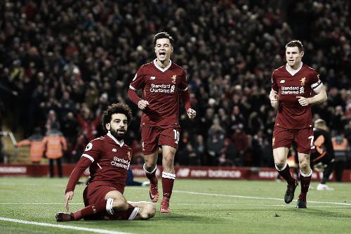 Salah, la duda en el equipo de Klopp que anotó dos goles frente al Leicester. Foto: Sitio oficial Premier League